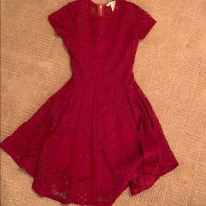 Beautiful teen red lace dress
